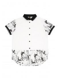 Older Boys White Marble Polo Shirt