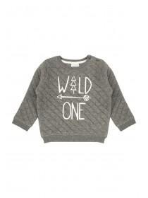 Baby Boy Quilted Wild One Sweatshirt