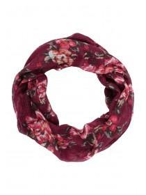 Womens Red Floral Snood