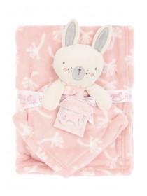 Baby Girls Pink Bunny Comforter