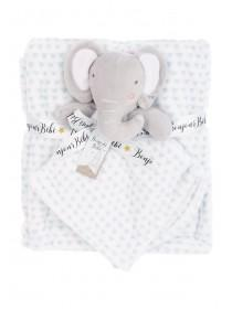 Baby Boys Blue Elephant Comforter