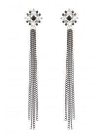 Womens Burnished Shoulder Duster Earrings