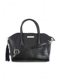 Womens Black Bowler Bag