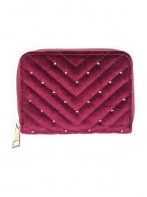 Womens Quilted Studded Coin Purse