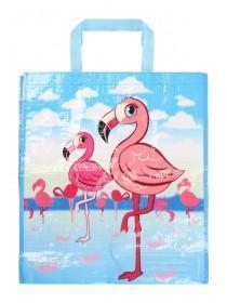 Blue Flamingo Shopping Bag