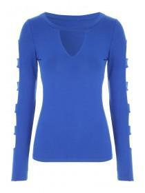 Jane Norman Cut Out Long Sleeve Top