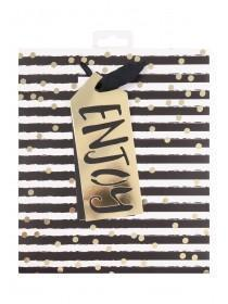 Monochrome Stripe Gift Bag
