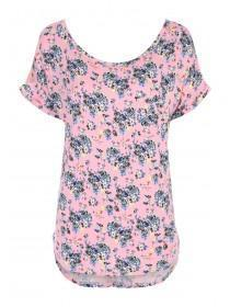 Womens Peach Viscose Top