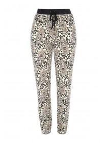 Womens Cream Leopard Pyjama Bottoms