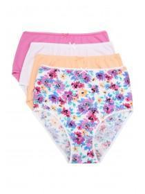 Womens 4pk Printed Full Briefs