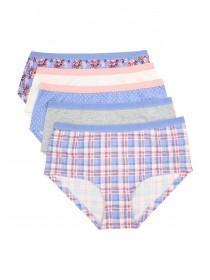 Older Girls 5PK Mid Blue 5PK Shorts