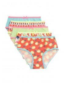 Younger Girls 5PK Pineapple Briefs