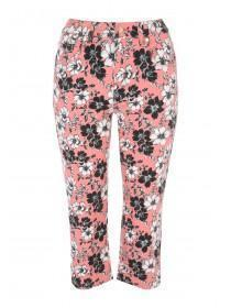 Womens Printed Cropped Jeans