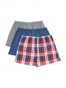 Mens 3PK Red Woven Boxers