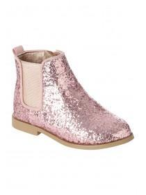 Girls Glitter Chelsea Boot