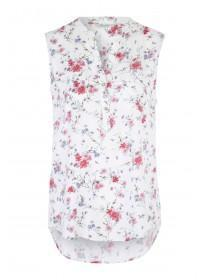 Womens Floral Sleeveless Blouse