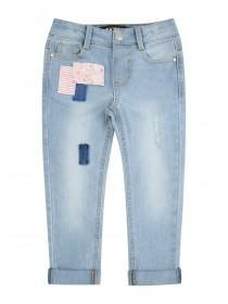 Younger Girls Blue Rip & Repair Jeans