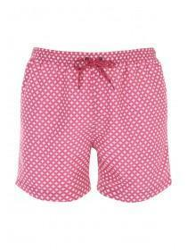 Mens Red Print Swim Shorts
