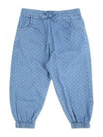Younger Girls Blue Spotted Woven Harem Pants