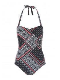 Womens Black Chella Bandeau Swimsuit