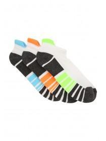 Mens 3PK White Performance Socks