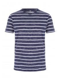 Mens Dark Blue Striped T-Shirt