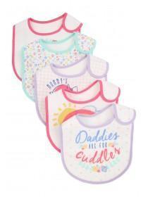 Baby Girls 5PK Sunshine Bibs