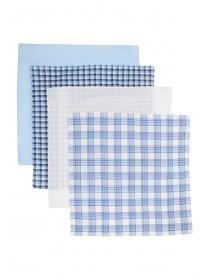 Mens 4PK Blue Handkerchiefs