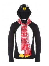 Mens Knitted Penguin Jumper