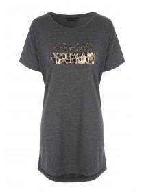 Womens Mid Brown Nightshirt Tee