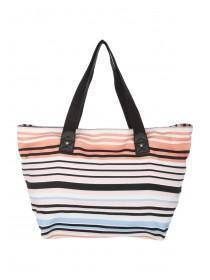 Womens Multi Striped Beach Bag