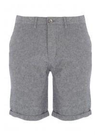 Mens Charcoal Textured Chino Shorts