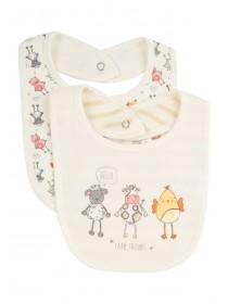 Baby 2PK Farm Animals Bibs