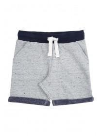 Younger Boys Grey Colour Contrast Shorts