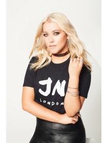 Jane Norman Black Cropped Slogan T-Shirt