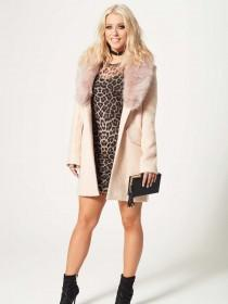 Jane Norman Animal Print Mesh Dress