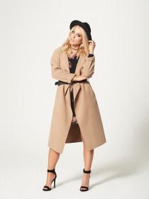 Jane Norman Beige Wrap Coat